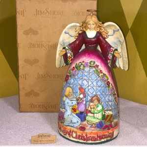"Jim Shore Angel of Christmas Morning Figurine 11"""
